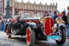Θρίαμβος στη συνάθροιση των εκλεκτής ποιότητας αυτοκινήτων στην Κρακοβία, Πολωνία στοκ φωτογραφία με δικαίωμα ελεύθερης χρήσης