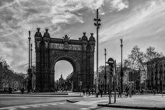 θρίαμβος της Βαρκελώνης αψίδων στοκ εικόνα με δικαίωμα ελεύθερης χρήσης