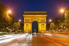 θρίαμβος της Γαλλίας Παρίσι αψίδων Στοκ φωτογραφίες με δικαίωμα ελεύθερης χρήσης