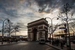 θρίαμβος FR Παρίσι 01 αψίδων Στοκ Φωτογραφίες