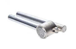 Θραυστήρας ή Τύπος σκόρδου ανοξείδωτου για το σκόρδο και τα χορτάρια Στοκ εικόνα με δικαίωμα ελεύθερης χρήσης