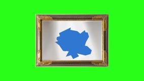 Θραύση μιας εικόνας, καθρέφτης - διαφορετικές απόψεις - πράσινες, μπλε οθόνη διανυσματική απεικόνιση