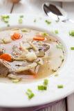 Θρεπτική σούπα κρέατος με macaroni Στοκ Φωτογραφία