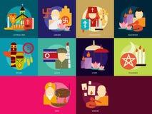 Θρησκεία και εορτασμοί απεικόνιση αποθεμάτων