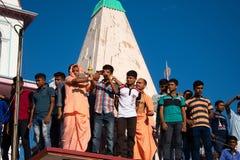Θρησκεία ναών Mayapur iskcon στοκ εικόνες