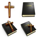 Θρησκευτικές έννοιες - σύνολο τρισδιάστατων απεικονίσεων Στοκ εικόνα με δικαίωμα ελεύθερης χρήσης