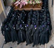 Θρησκευτικές πομπές στην ιερή εβδομάδα. Ισπανία Στοκ Εικόνες