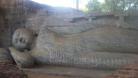 Θρησκευτική επίσκεψη Anuradhapura Σρι Λάνκα Budhism Στοκ Εικόνες