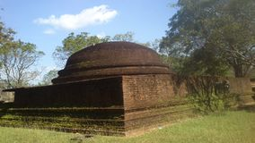 Θρησκευτική επίσκεψη Anuradhapura Σρι Λάνκα Budhism Στοκ εικόνες με δικαίωμα ελεύθερης χρήσης