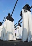 Θρησκευτική πομπή σε Triana, ιερή εβδομάδα στη Σεβίλη, Ανδαλουσία, Ισπανία στοκ εικόνες