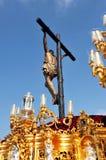 Θρησκευτική πομπή σε Triana, ιερή εβδομάδα στη Σεβίλη, Ανδαλουσία, Ισπανία στοκ φωτογραφίες με δικαίωμα ελεύθερης χρήσης