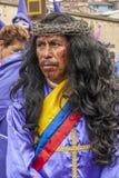 Θρησκευτική πομπή του Ιησού del Gran Poder στοκ φωτογραφία