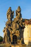 Θρησκευτικό άγαλμα στη γέφυρα Πράγα του Charles Στοκ εικόνες με δικαίωμα ελεύθερης χρήσης