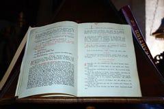 Θρησκευτικό βιβλίο στο μοναστήρι Arkadi Στοκ Φωτογραφία