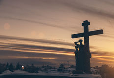 Θρησκευτικό μνημείο σε Yekaterinburg στη Ρωσία ενάντια στον ουρανό Στοκ Εικόνα