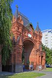 Θριαμβευτική αψίδα του Αλεξάνδρου στην πόλη Krasnodar Στοκ Εικόνες