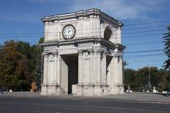 Θριαμβευτική αψίδα, Kishinev Chisinau Μολδαβία Στοκ Εικόνες