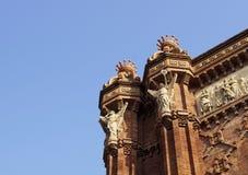 Θριαμβευτική αψίδα στη Βαρκελώνη Στοκ φωτογραφία με δικαίωμα ελεύθερης χρήσης