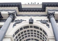Θριαμβευτική αψίδα της Μόσχας (Arc de Triomphe) Στοκ εικόνα με δικαίωμα ελεύθερης χρήσης