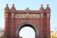 Θριαμβευτική αψίδα Arc de Triomf στη Βαρκελώνη Στοκ Εικόνες