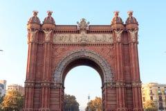 Θριαμβευτική αψίδα Arc de Triomf στη Βαρκελώνη Στοκ εικόνες με δικαίωμα ελεύθερης χρήσης