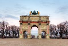 Θριαμβευτική αψίδα (Arc de Triomphe du ιπποδρόμιο) σε Tuileries Παρίσι Στοκ φωτογραφία με δικαίωμα ελεύθερης χρήσης