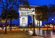 Θριαμβευτική Arch Arc de Triomphe στο Παρίσι, Γαλλία Στοκ Εικόνα