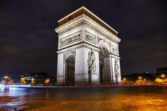 Θριαμβευτική Arch Arc de Triomphe στο Παρίσι, Γαλλία Στοκ εικόνα με δικαίωμα ελεύθερης χρήσης