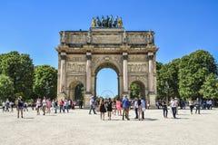 Θριαμβευτικό Arch Arc de Triomphe du ιπποδρόμιο Στοκ Φωτογραφία