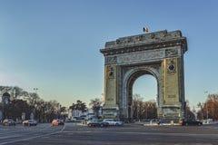 Θριαμβευτικό Archm Βουκουρέστι, Ρουμανία Στοκ Φωτογραφία