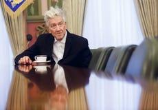 Θρυλικοί αμερικανικοί σκηνοθέτης και δράστης Δαβίδ Lynch στοκ φωτογραφία