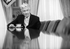 Θρυλικοί αμερικανικοί σκηνοθέτης και δράστης Δαβίδ Lynch στοκ εικόνα