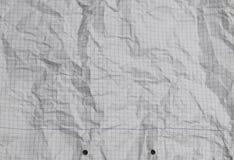 Θρυμματισμένη σύσταση εγγράφου με τις τετραγωνικές γραμμές Στοκ Εικόνα