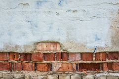 Θρυμματισμένος από το συγκεκριμένο τούβλινο σκηνικό υποβάθρου ταπετσαριών τοίχων στόκων στοκ εικόνα