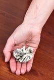 Θρυμματισμένος λογαριασμός δολαρίων στοκ φωτογραφία