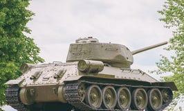 Θρυλική δεξαμενή τ-34 Στοκ Φωτογραφίες