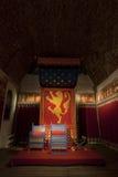 θρόνος δωματίων βασιλιάδ&ome Στοκ εικόνα με δικαίωμα ελεύθερης χρήσης