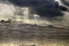 Θυελλώδες λιμάνι Leixoes στοκ φωτογραφίες με δικαίωμα ελεύθερης χρήσης