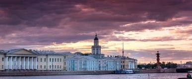Θυελλώδης ημέρα στη Αγία Πετρούπολη κατά μήκος του ποταμού Neva Στοκ εικόνα με δικαίωμα ελεύθερης χρήσης