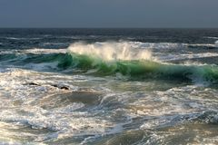 Θυελλώδης θάλασσα Στοκ εικόνες με δικαίωμα ελεύθερης χρήσης