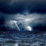 Θυελλώδης θάλασσα Στοκ Φωτογραφία
