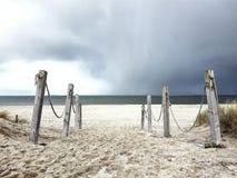 Θυελλώδης καιρός επάνω από την παραλία σε Texel Στοκ εικόνες με δικαίωμα ελεύθερης χρήσης