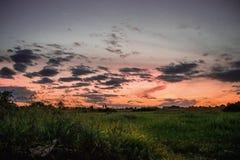 Θυελλώδης καιρός κατά τη διάρκεια του ηλιοβασιλέματος Στοκ φωτογραφίες με δικαίωμα ελεύθερης χρήσης