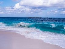 Θυελλώδης/νεφελώδης ημέρα πέρα από τον Ατλαντικό Ωκεανό στοκ φωτογραφίες με δικαίωμα ελεύθερης χρήσης