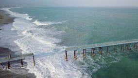 Θυελλώδης ωκεάνια κεραία απόθεμα βίντεο