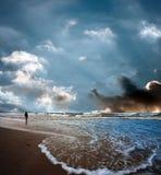Θυελλώδης θάλασσα Στοκ εικόνα με δικαίωμα ελεύθερης χρήσης