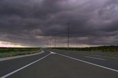 Θυελλώδης εθνική οδός ουρανού Στοκ Εικόνες