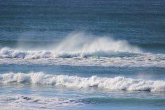 Θυελλώδης ημέρα Ειρηνικών Ωκεανών του Όρεγκον δυτικών ακτών Στοκ Φωτογραφίες