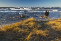Θυελλώδης ημέρα στην ακτή Στοκ εικόνες με δικαίωμα ελεύθερης χρήσης