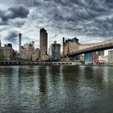 Θυελλώδης ημέρα στη Νέα Υόρκη στοκ εικόνες